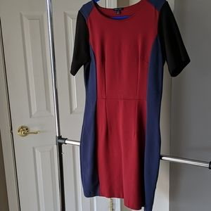 Tommy Hilfiger blue red viscose classic dress 10